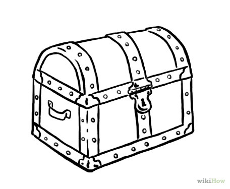 Open Treasure Chest Drawing at GetDrawings | Free download