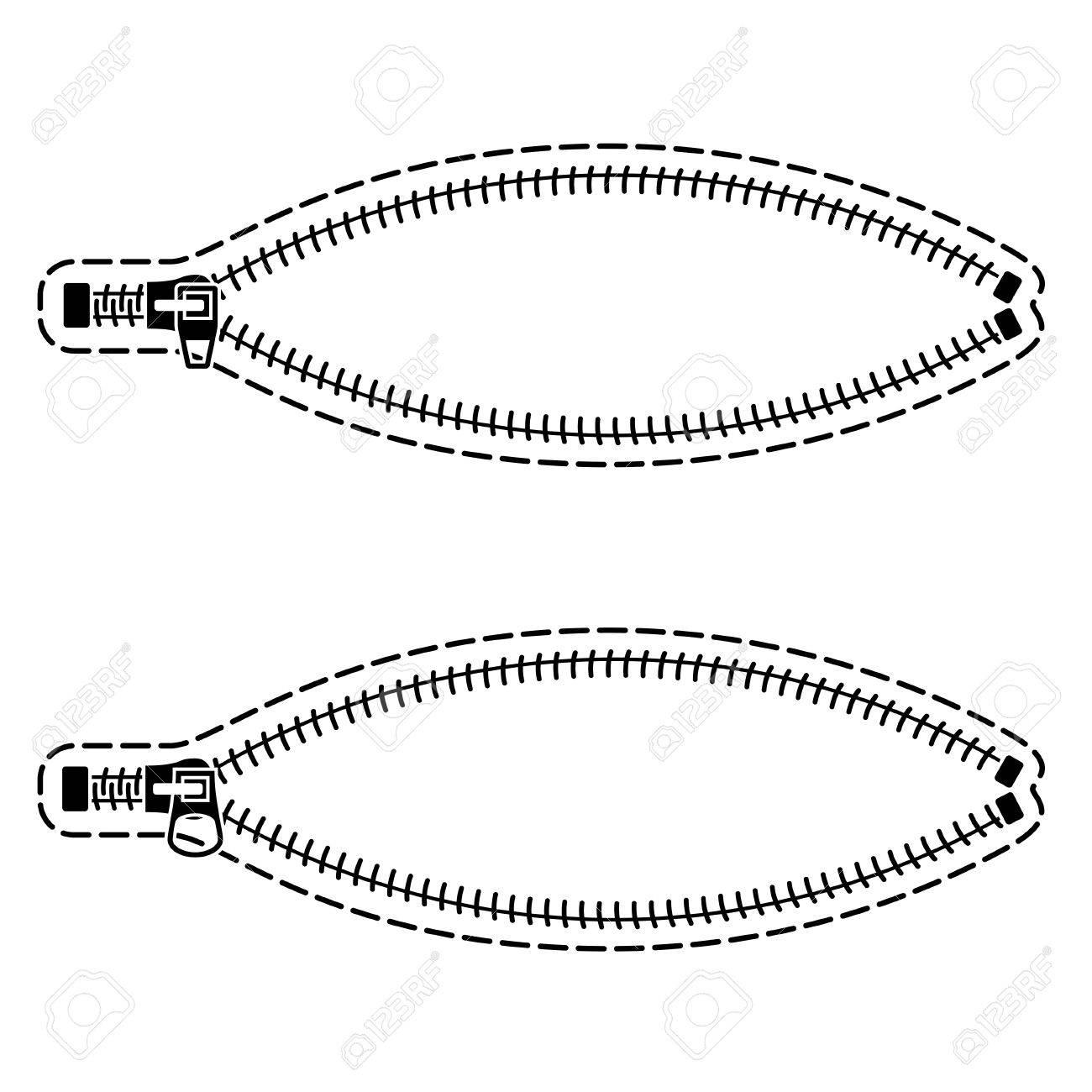 1300x1300 Zipper Black Symbols Royalty Free Cliparts, Vectors, And Stock