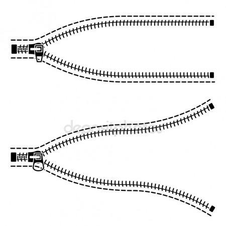450x450 Zipper Black Symbols Stock Vector Happyroman