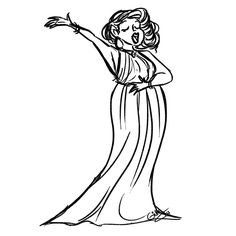 Opera Singer Drawing