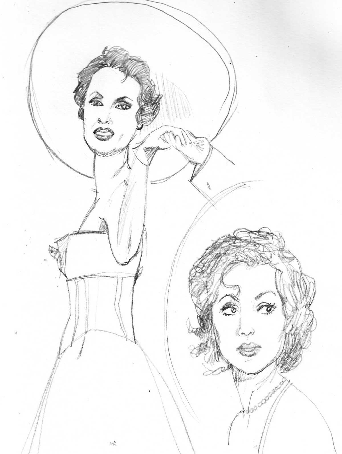 1200x1595 Anna Netrebko Opera Singer Sketch Dawn Schreiner