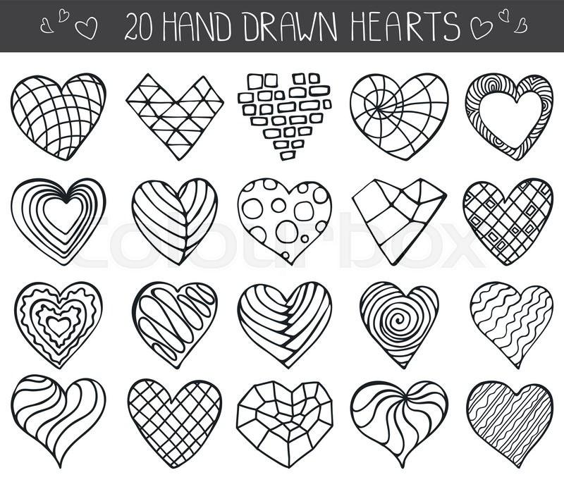 800x684 Heart Icons Set.valentine,wedding,love Symbols.vintage Heart Love