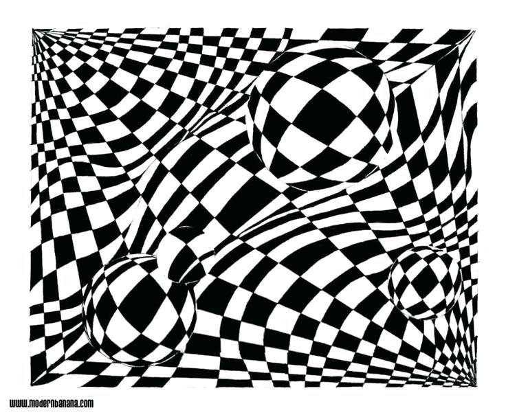 736x607 Illusions Coloring Pages Optical Illusion Coloring Pages Free