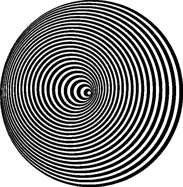 582x595 Optical Illusion Clip Art