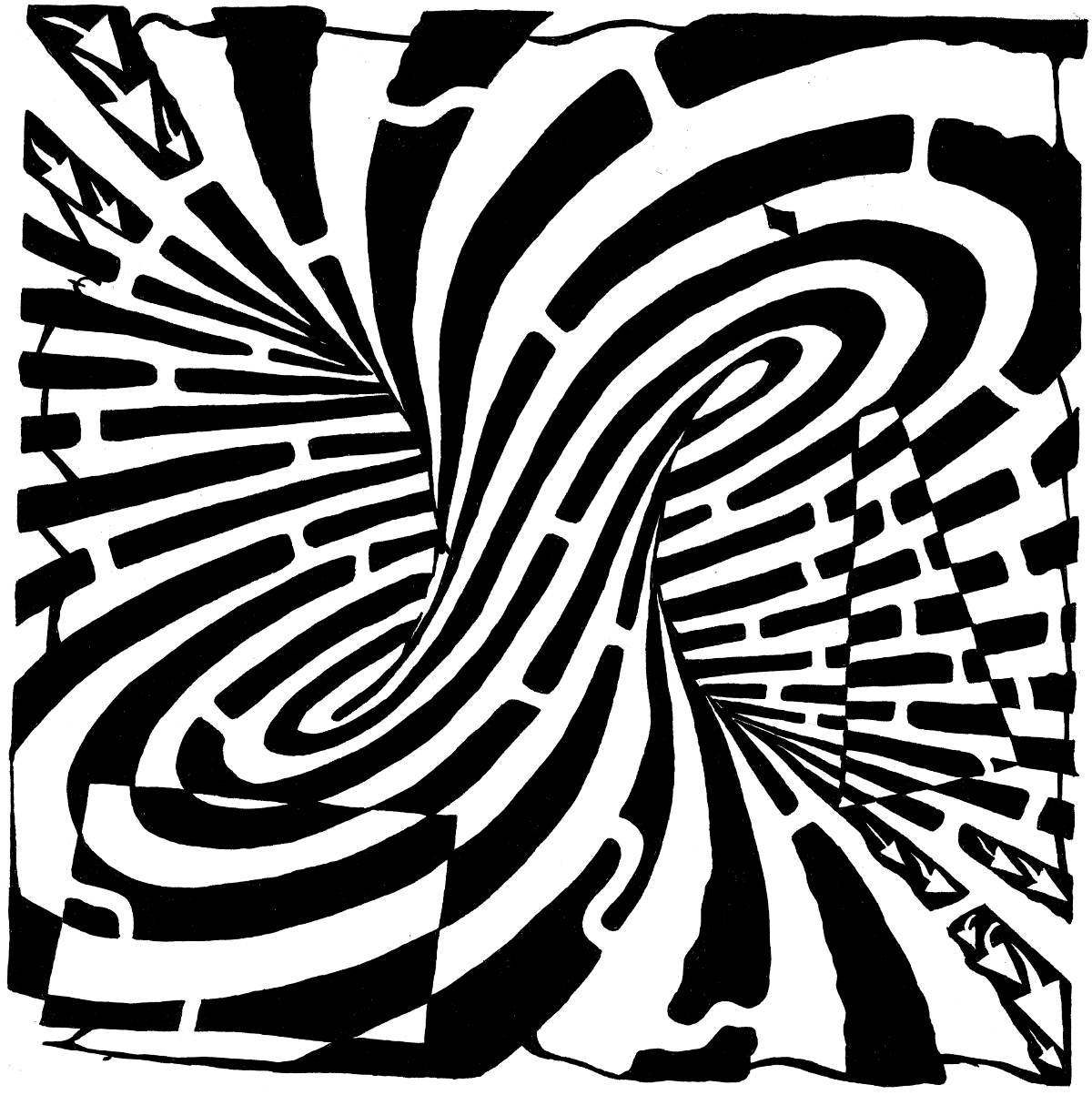 1200x1203 Optical Illusion Coloring Pages To Download And Print For Free