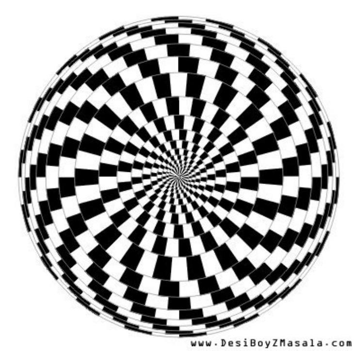 736x723 Drawn Optical Illusion Mind Bending