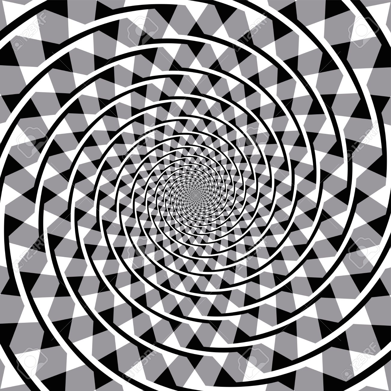 1300x1300 Fraser Spiral Optical Illusion. Also Known As The False Spiral