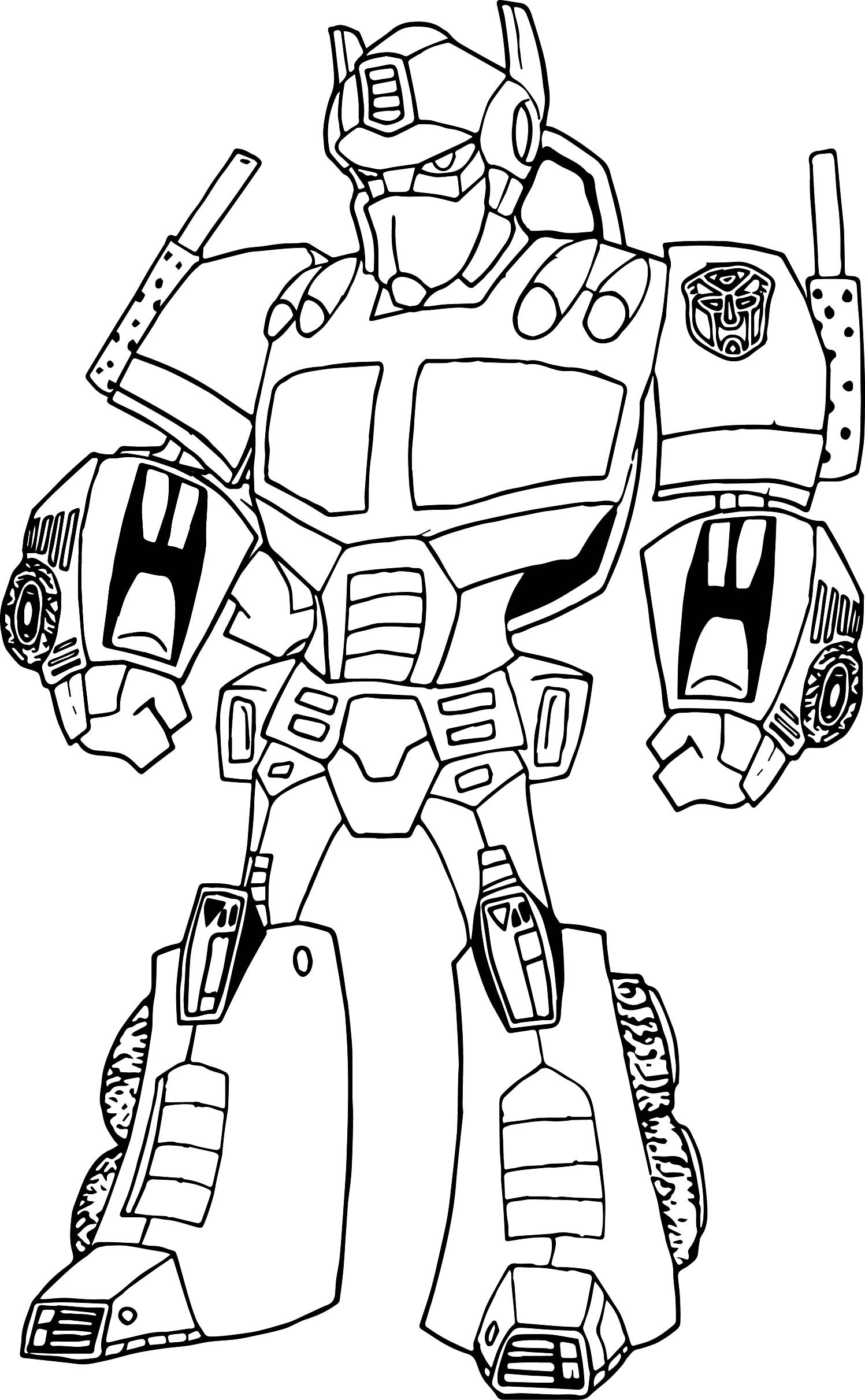 Optimus Prime Face Drawing