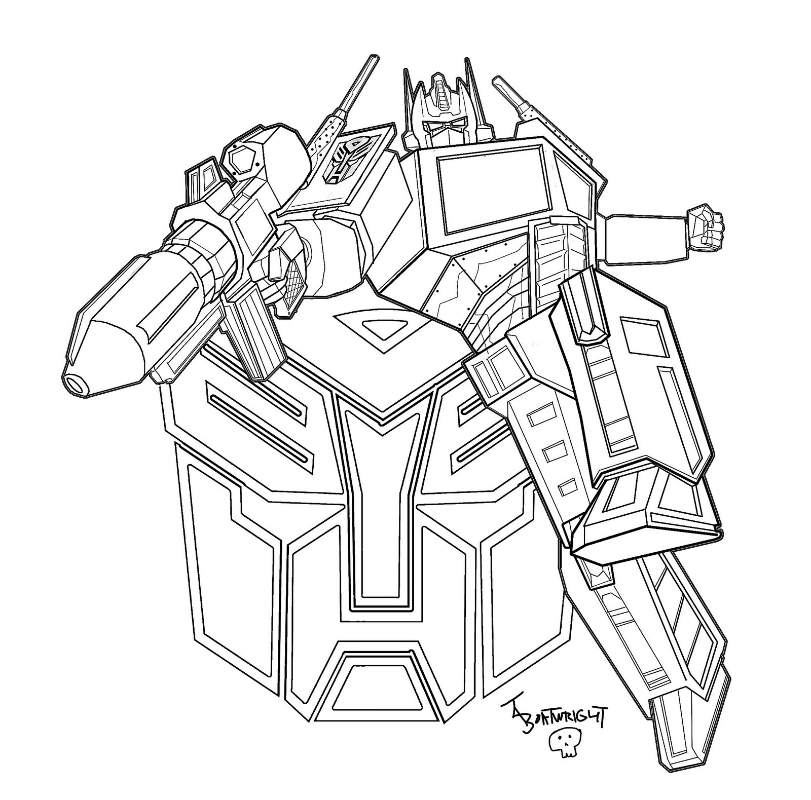 1600x1579 Optimus Prime Transformers Coloring Pages Gtgt Disney Coloring Pages