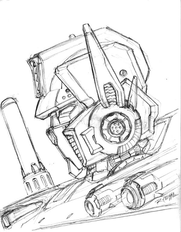 600x769 Prime Head Sketch Sdcc08 By Rex 203