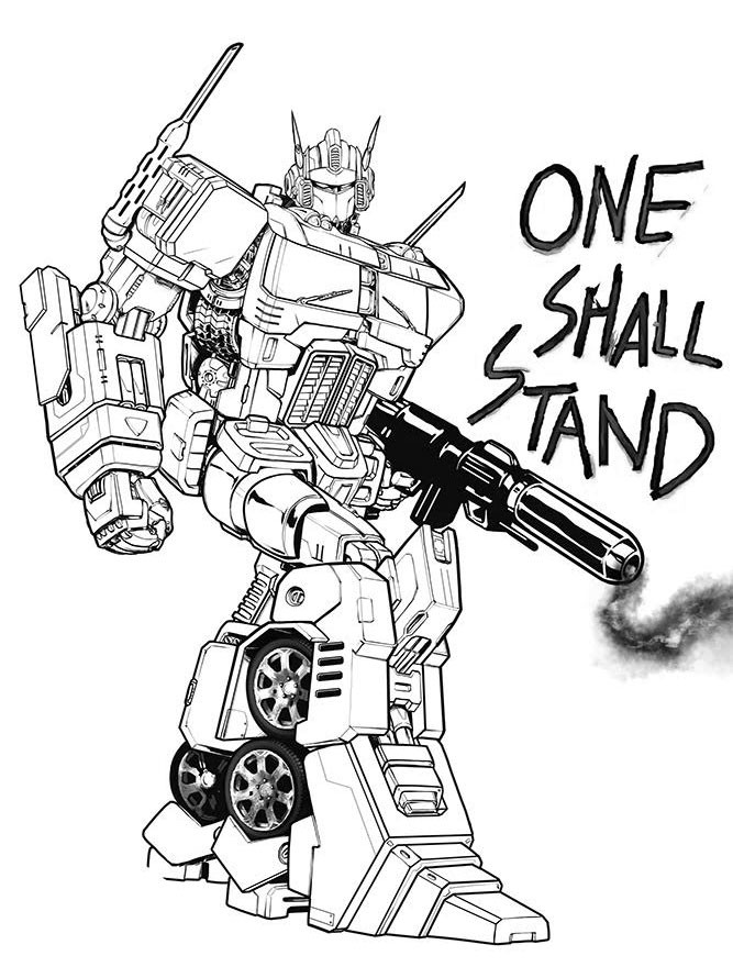 667x890 Timothy Lim Lineart For Idw Optimus Prime