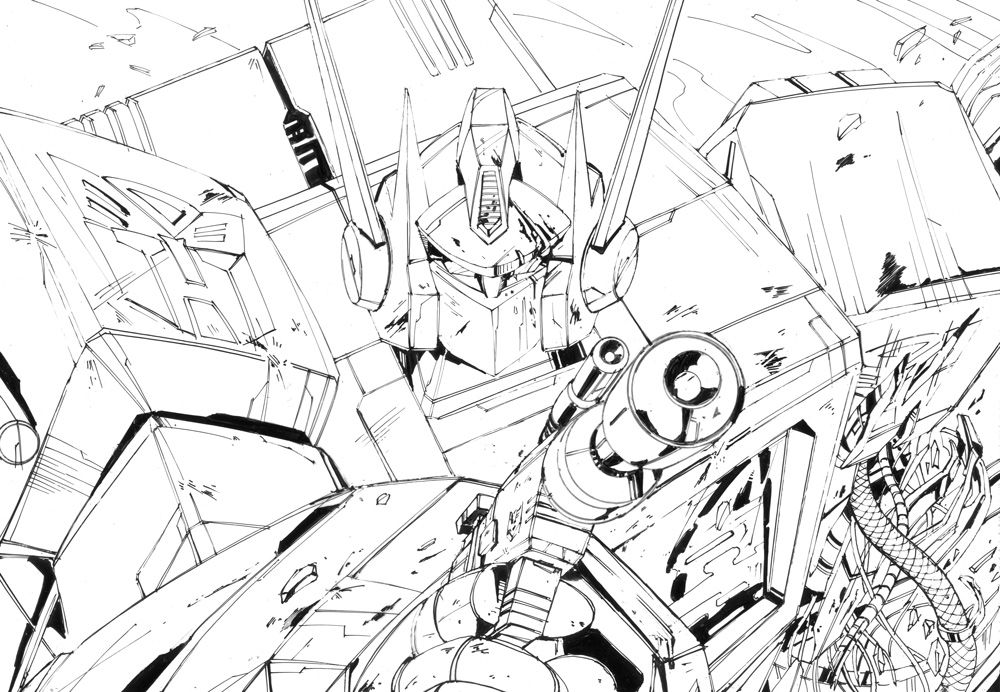 1000x692 G1 Optimus Prime And Megatron Ink By Marble V