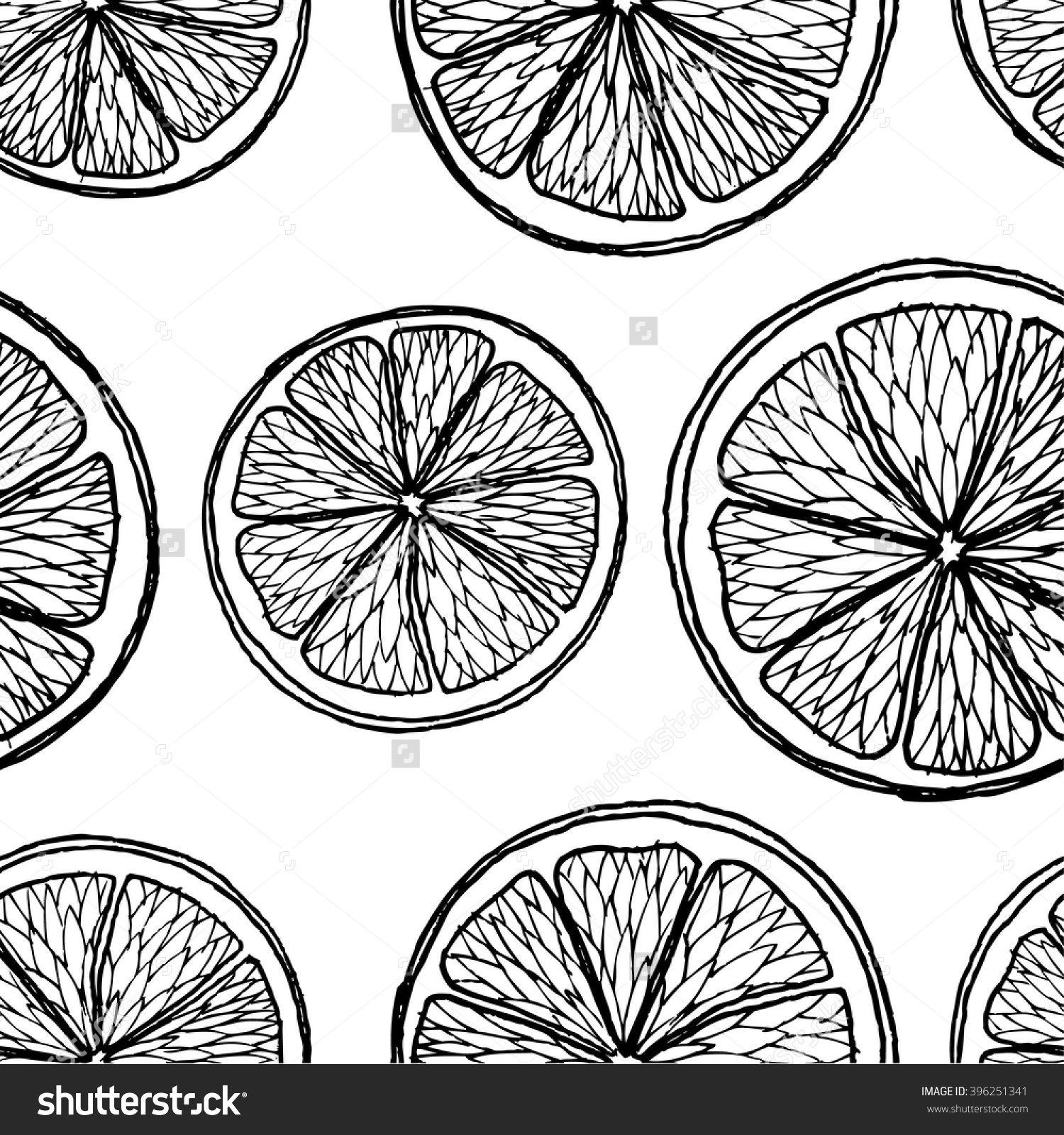 1500x1600 Image Result For Orange Slice Black And White Drawing Orange