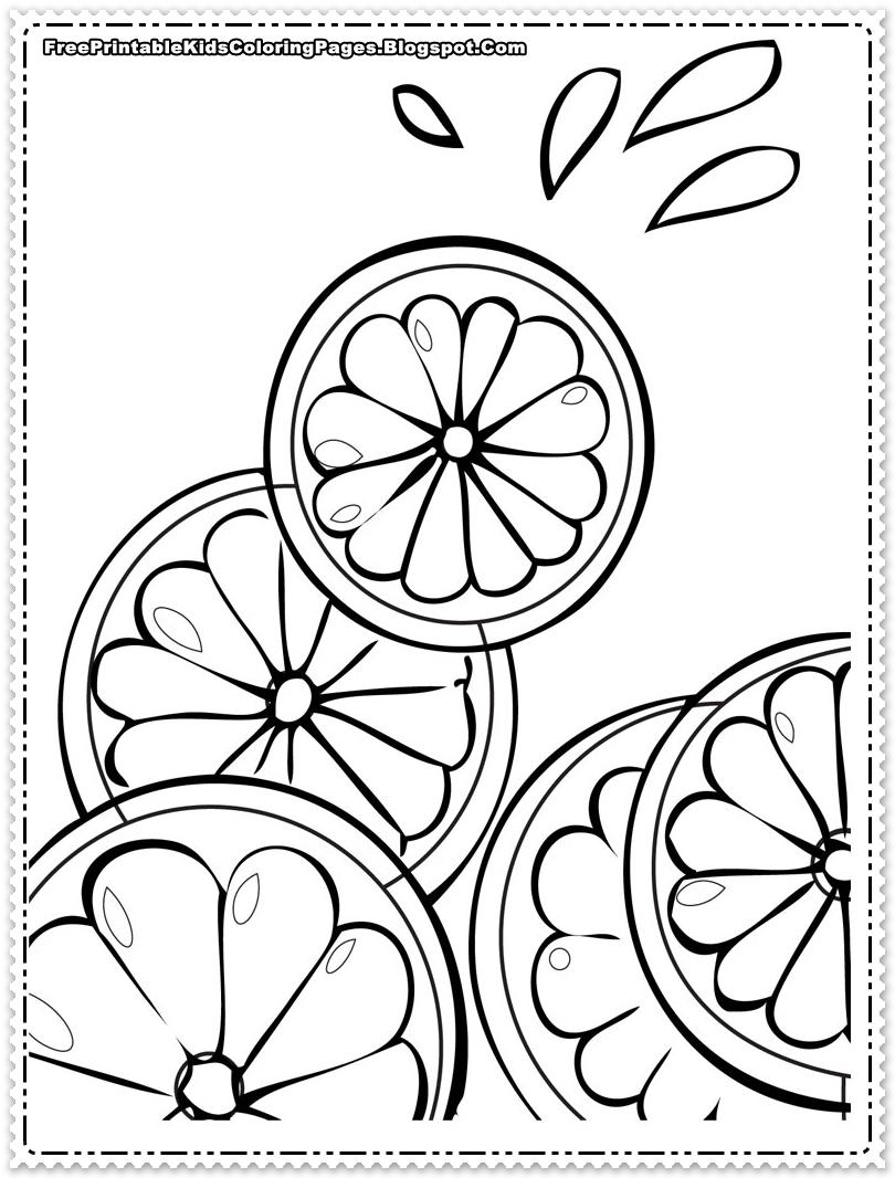 810x1066 Orange Coloring Pages