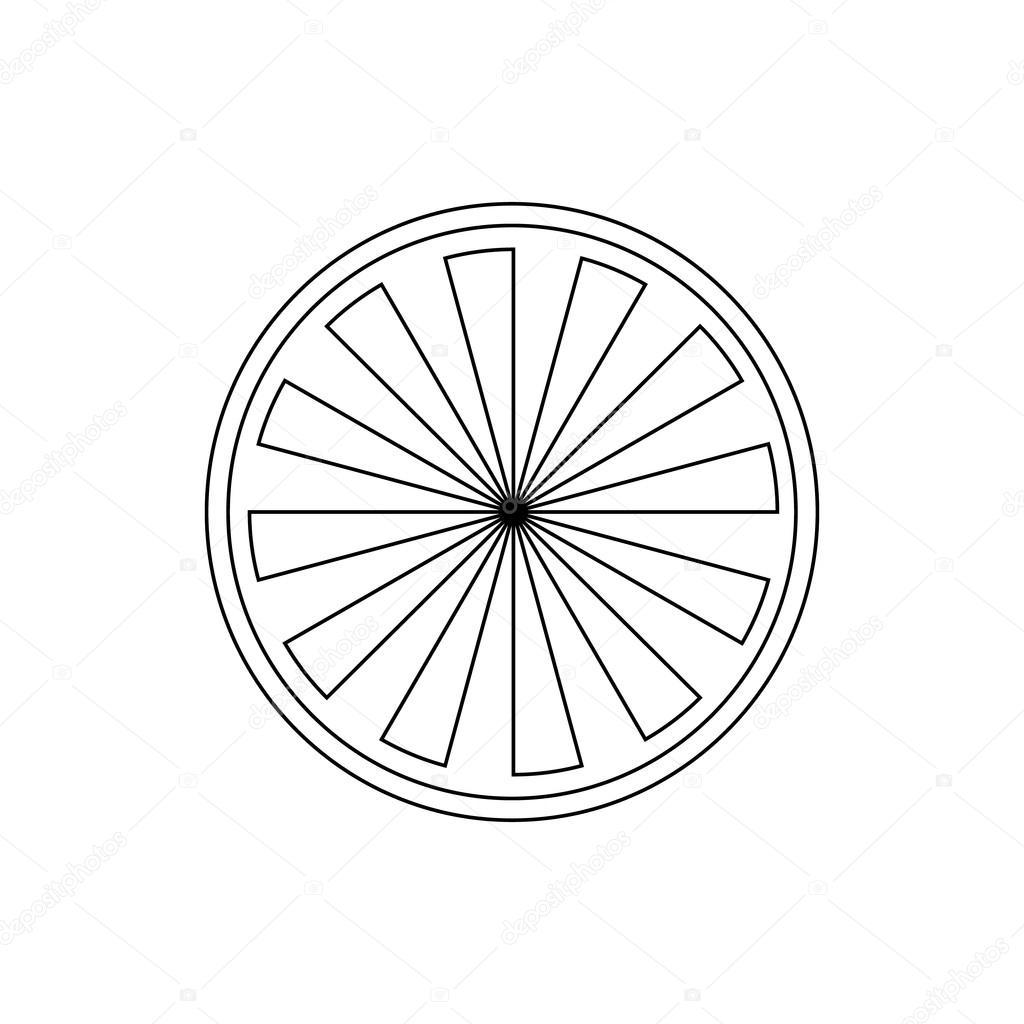 1024x1024 Orange Slice Icon, Outline Style Stock Vector Ylivdesign