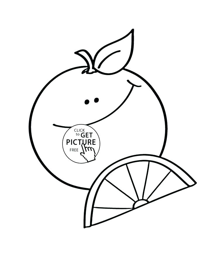 736x866 Orange Coloring Page Fruit Coloring Pages The Carrot Is Orange