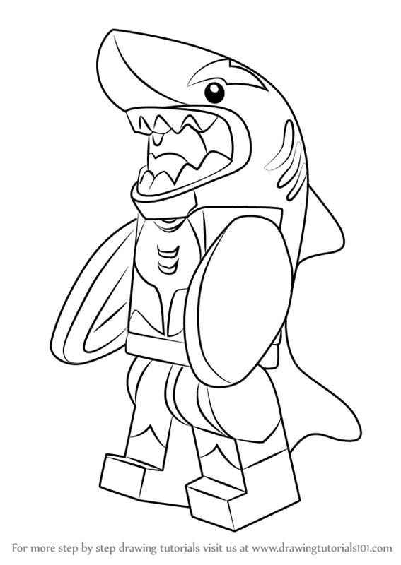 567x800 Learn How To Draw Orca From The Lego Batman Movie (The Lego Batman