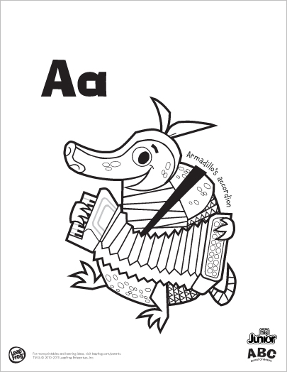 405x524 A Free Printable Abc Animal Orchestra Coloring Book To Keep