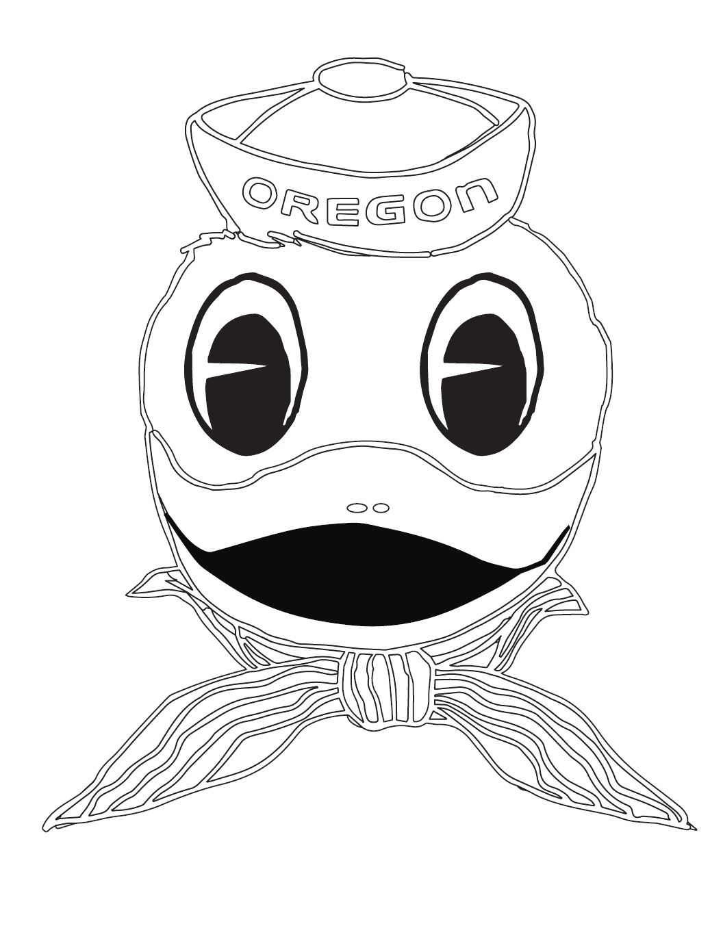 oregon ducks drawing at getdrawings com free for personal use