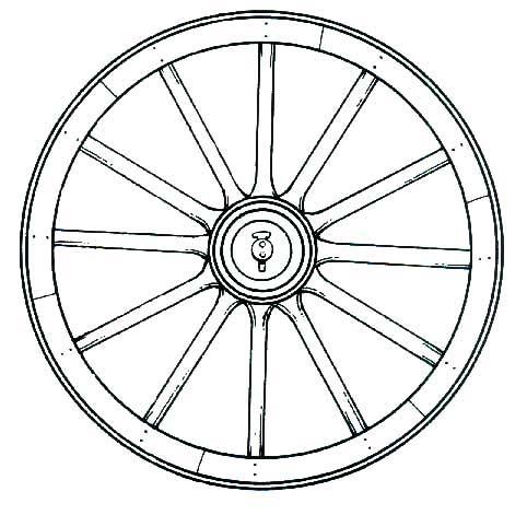 482x471 Wagon Wheel Drawing Clipart