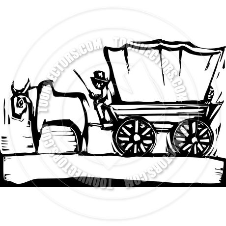 460x460 Covered Wagon By Xochicalco Toon Vectors Eps