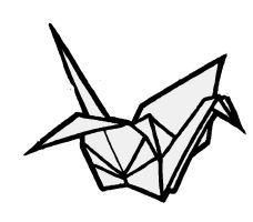 Origami Bird Drawing