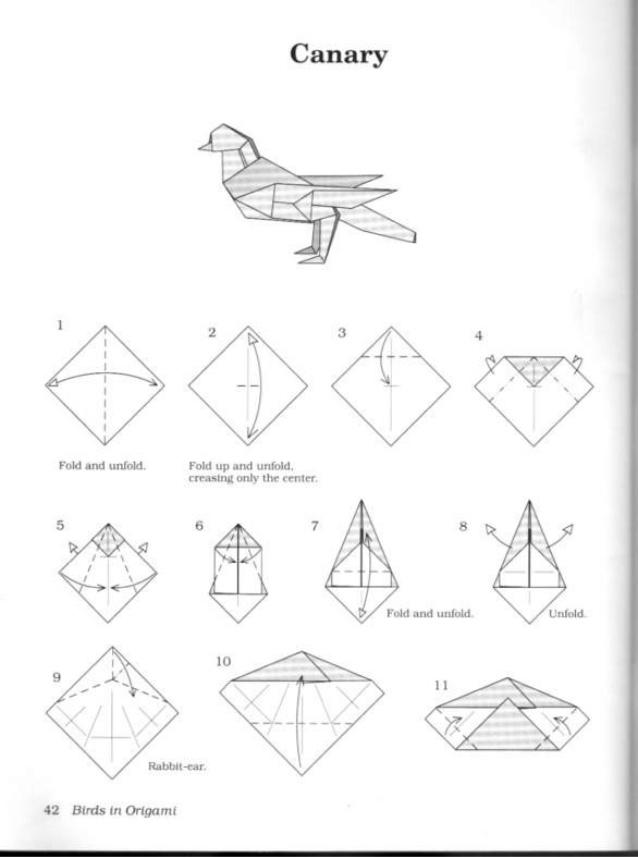 638x857 Birds In Origami 1