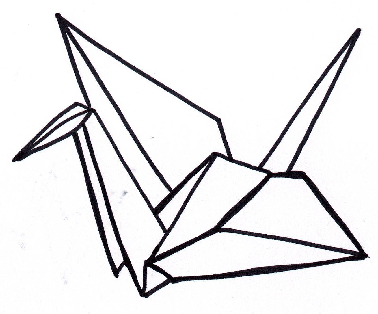 1309x1087 How To Make A Paper Crane! A Special Origami Video!