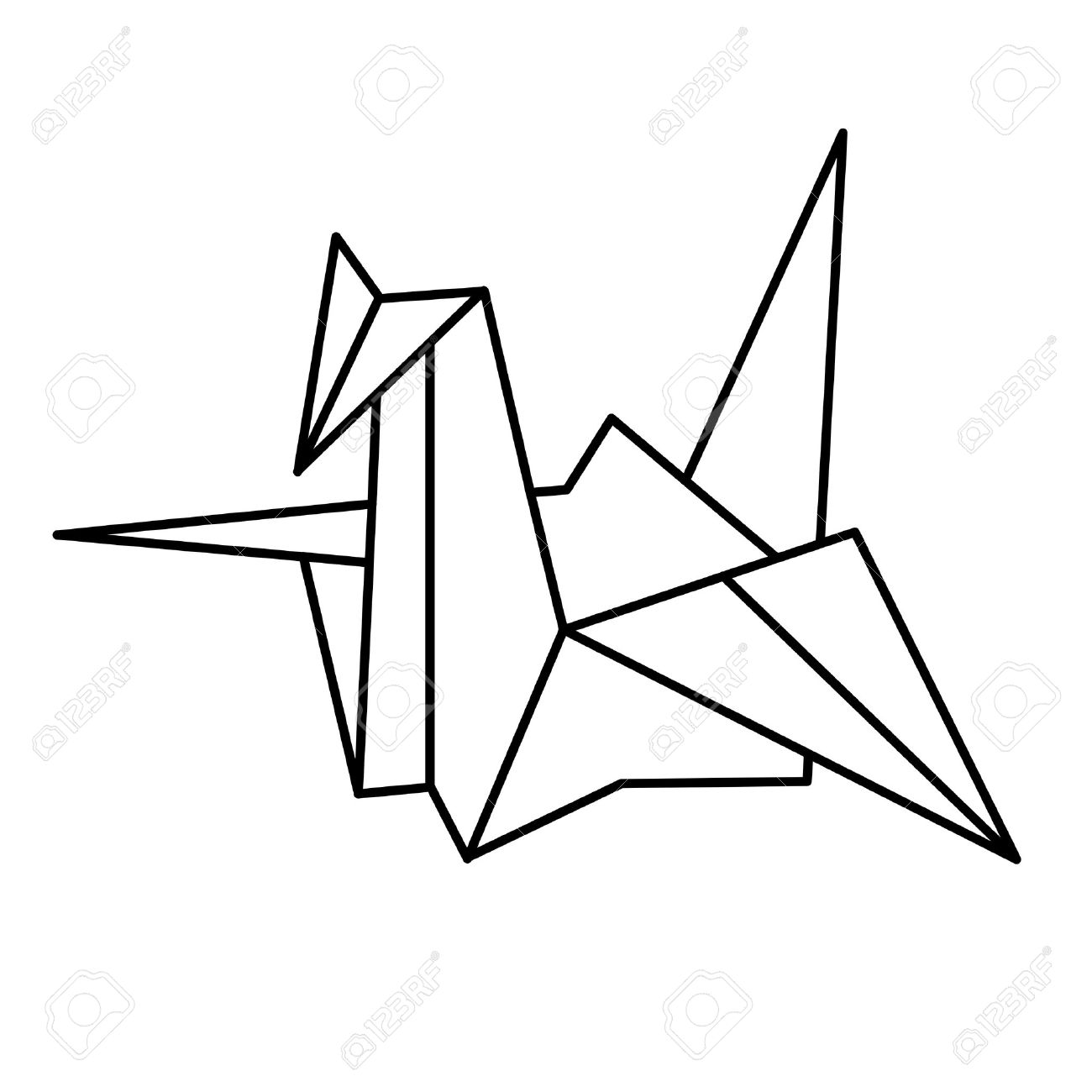 1300x1300 Japan Paper Crane Royalty Free Cliparts, Vectors, And Stock