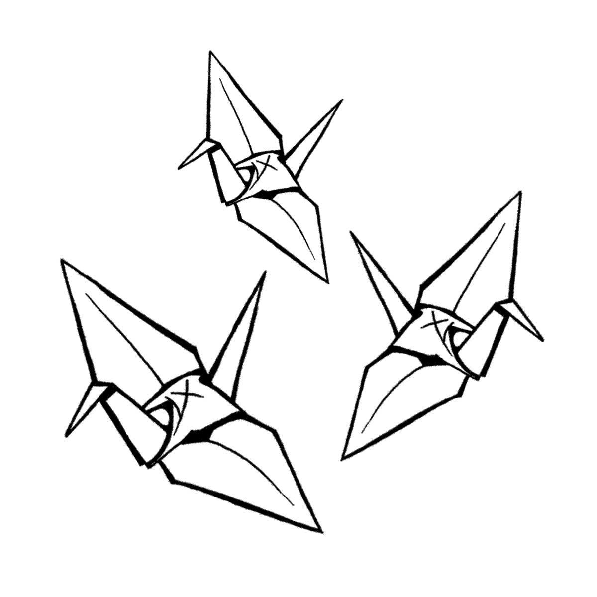 1200x1200 Origami Crane Drawing. 25 Best Ideas About Paper Crane On, Tadpole