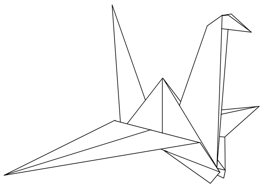 Origami Crane Drawing At Getdrawings Free For Personal Use