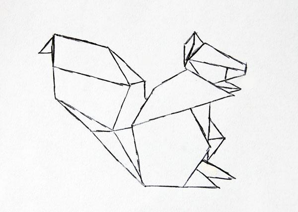 Origami Drawing At GetDrawings