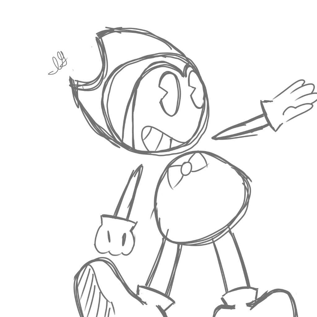 1024x1024 Old Mickey Mouse Style Sketch Bendy And The Ink Machine Amino