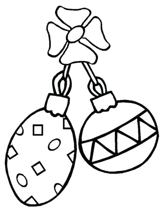 518x690 Coloring Pages Christmas Ornaments Printable Printable Coloring