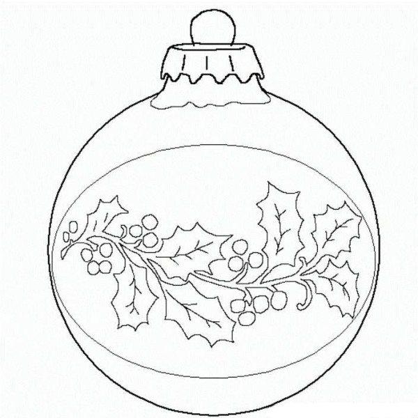 600x600 Ball Christmas Ornament Christmas Coloring Page