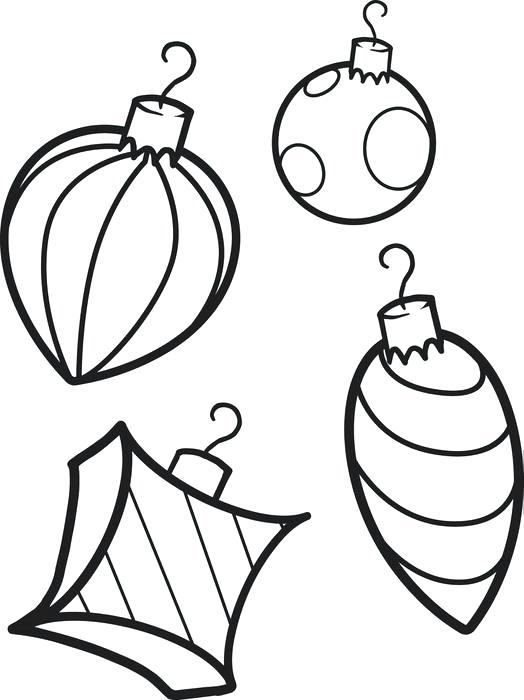 524x700 Christmas Ornament Coloring Page