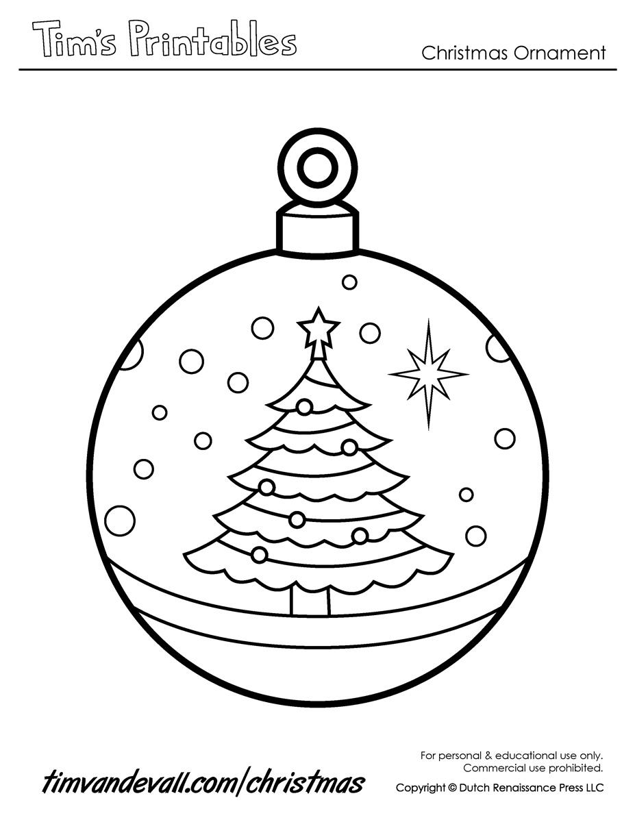 927x1200 Printable Christmas Ornaments Templates