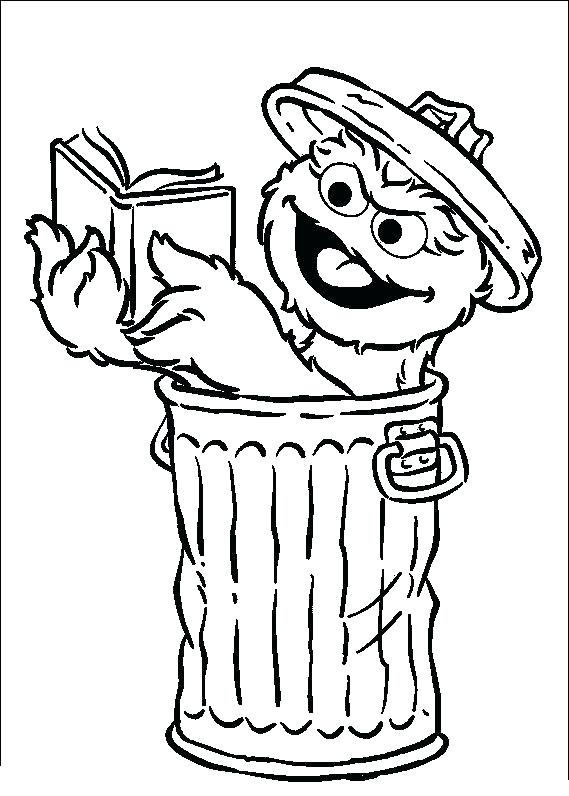 569x796 Oscar Coloring Pages Sesame Street The Grouch Coloring Page