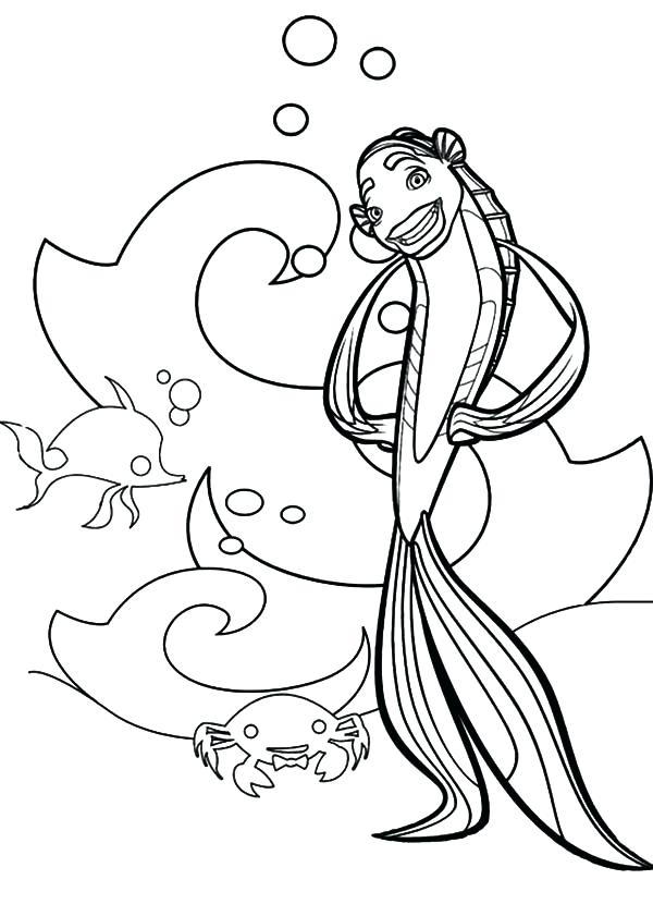 600x830 Inspirational Oscar Coloring Pages Print Picture Of Shark Tale