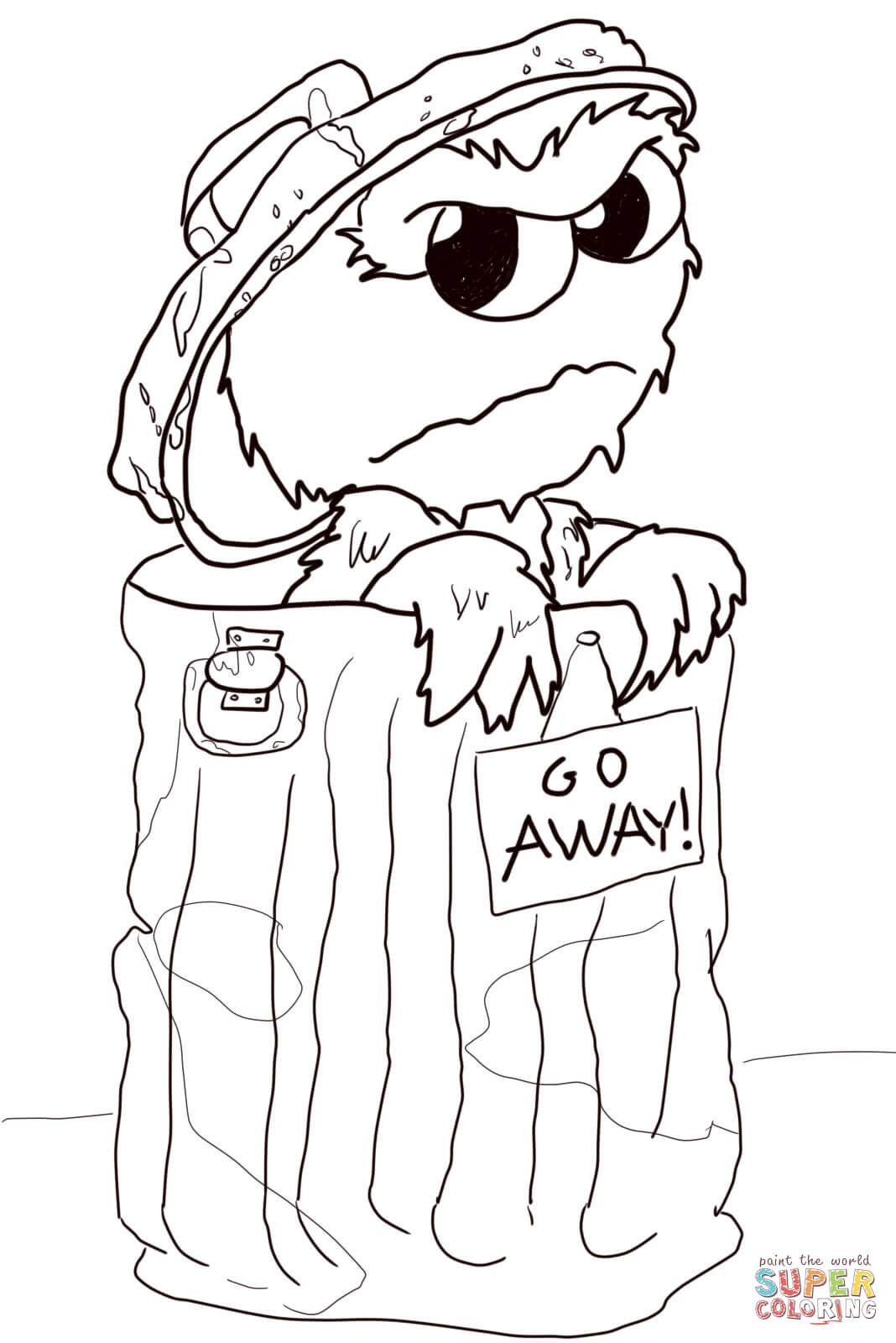 1068x1600 Grumpy Oscar Coloring Page Free Printable Coloring Pages