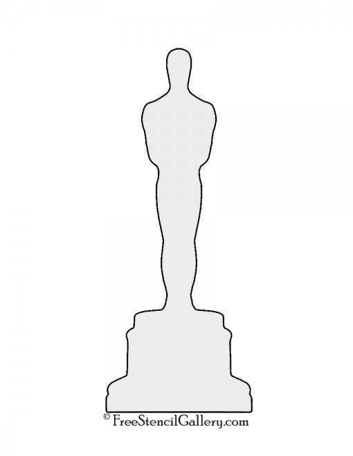 510x660 Oscar Statue Silhouette Stencil Danae Stenciling