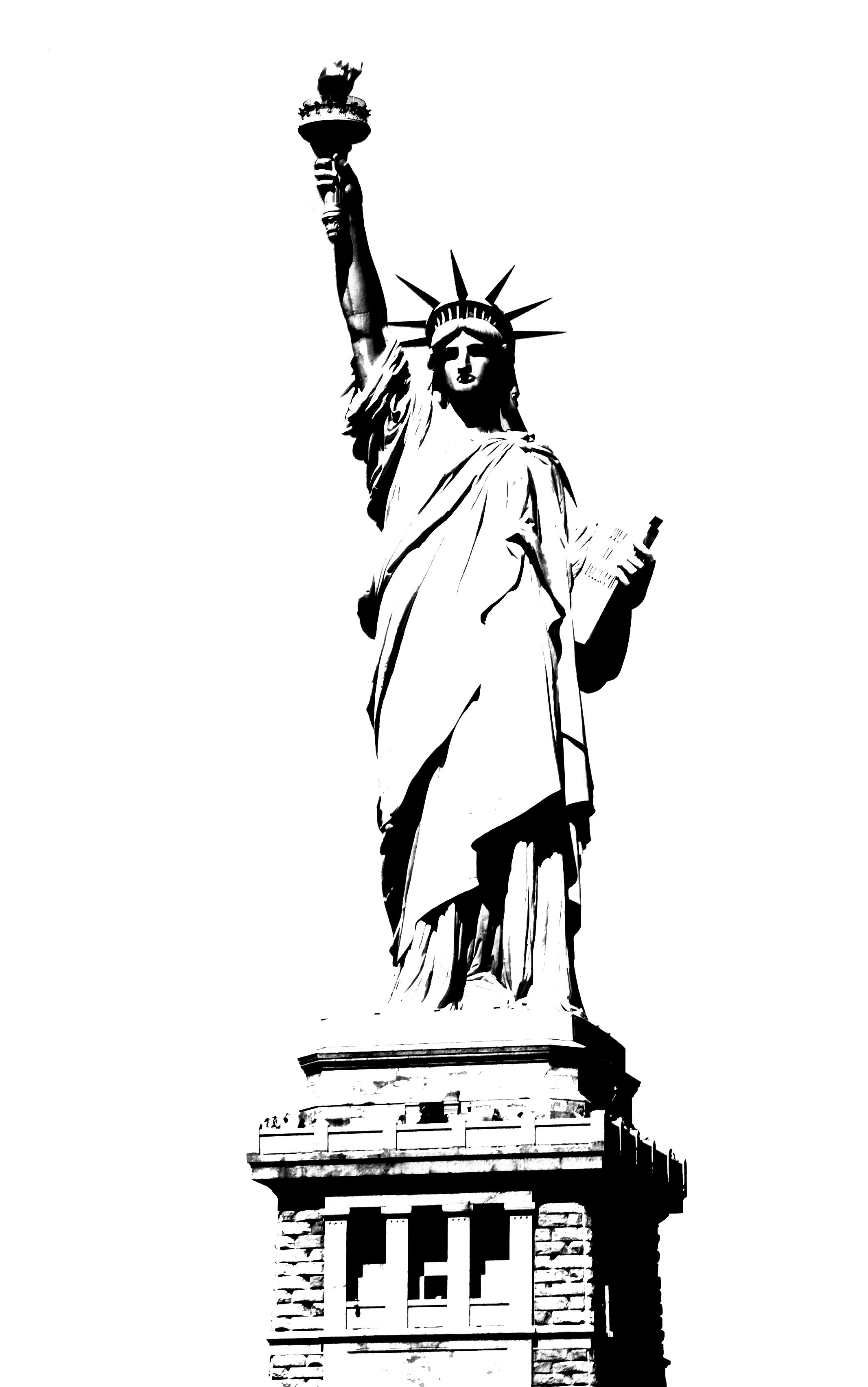 2133x3407 Statue Clipart Black And White