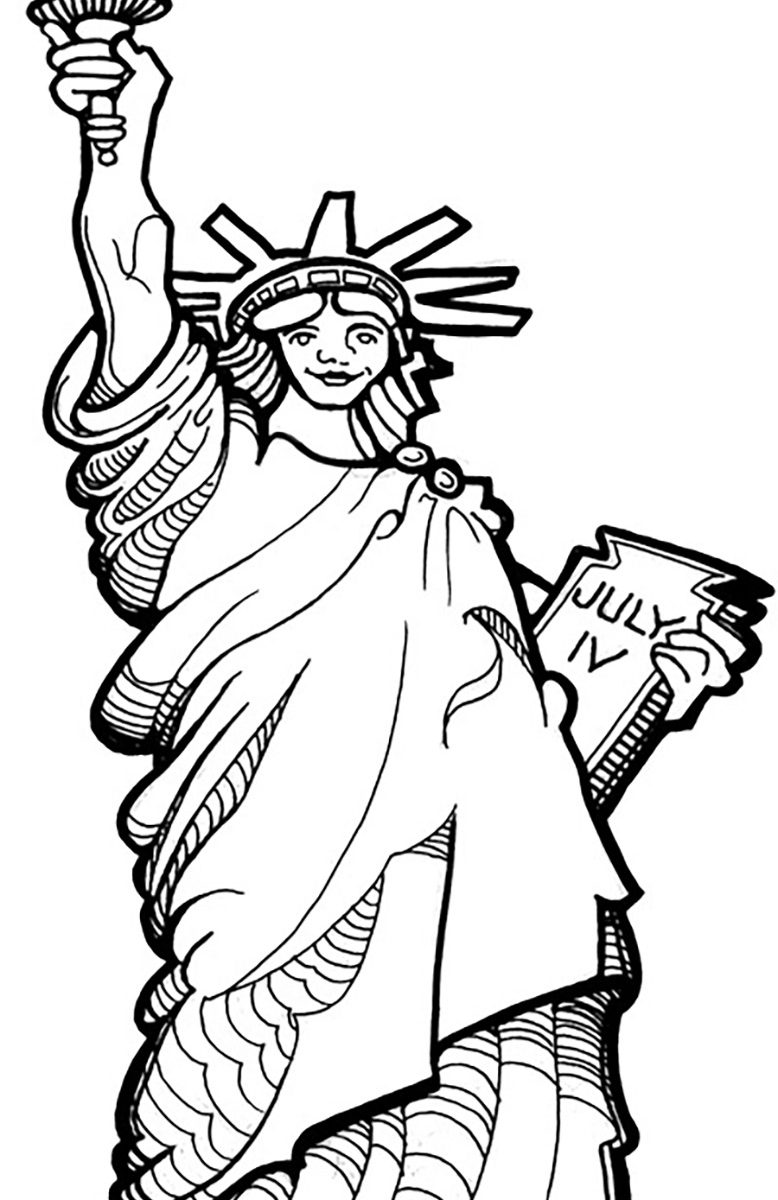 778x1200 Statue Of Liberty Patriotic Th July Coloring Pages Free Printabl