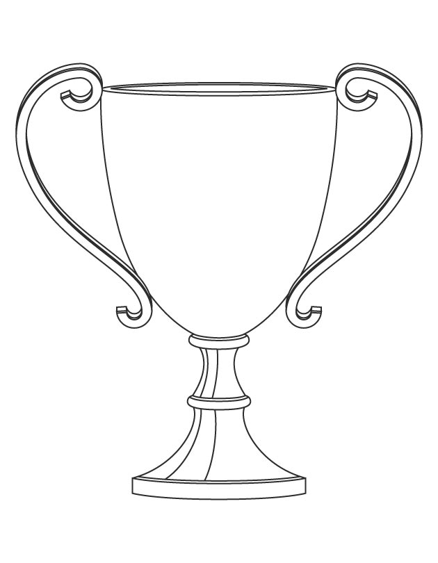 630x810 Trophy Coloring Page