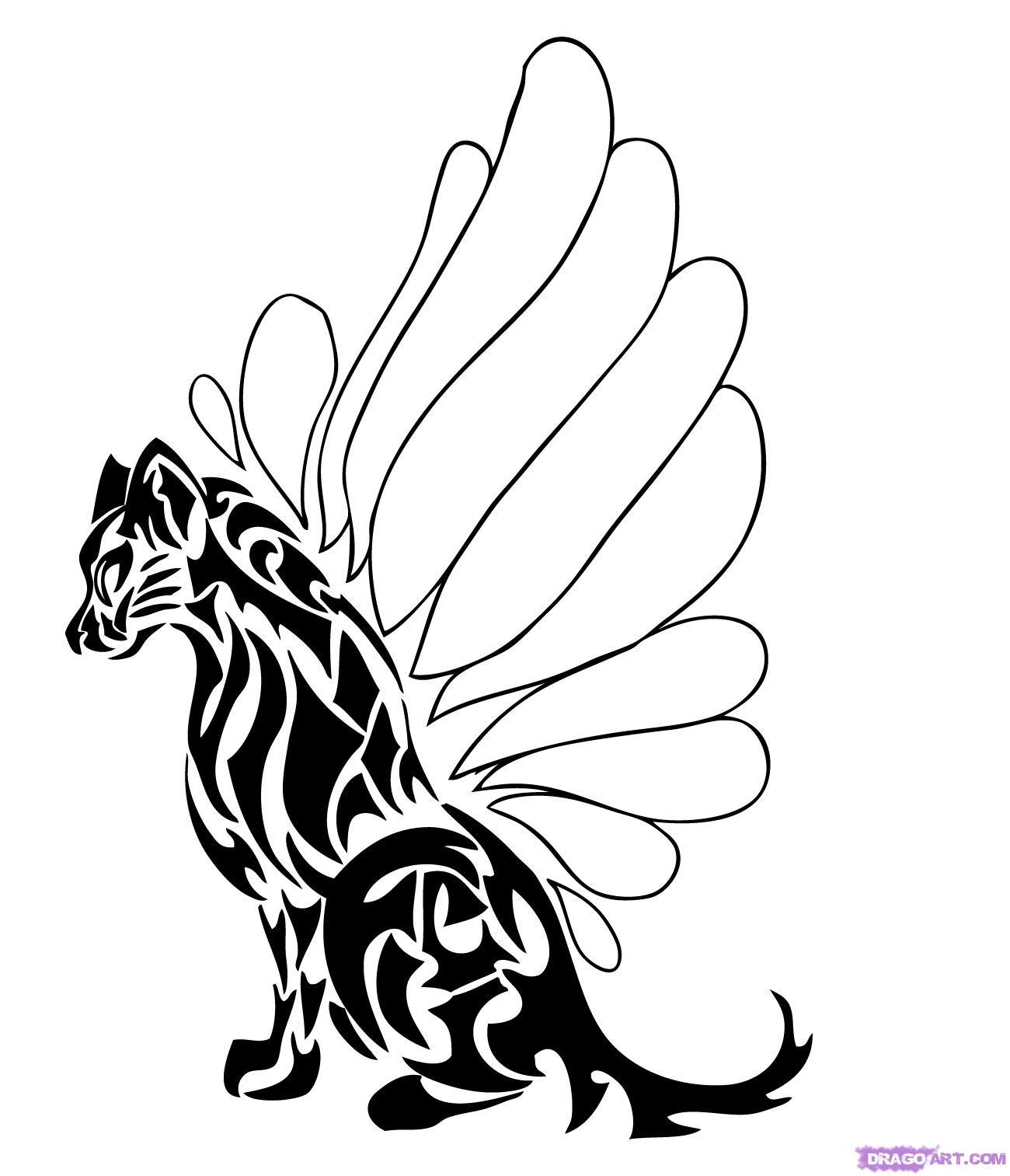 1300x1513 Cartoon Animal Drawings Easy How To Draw Tribal Animals Art Step