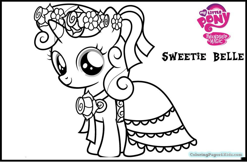 980x642 My Little Pony Printable Coloring Pages Of Sweetie Belle