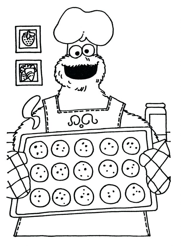 618x845 cookie monster and oscar the grouch coloring pages coloring page