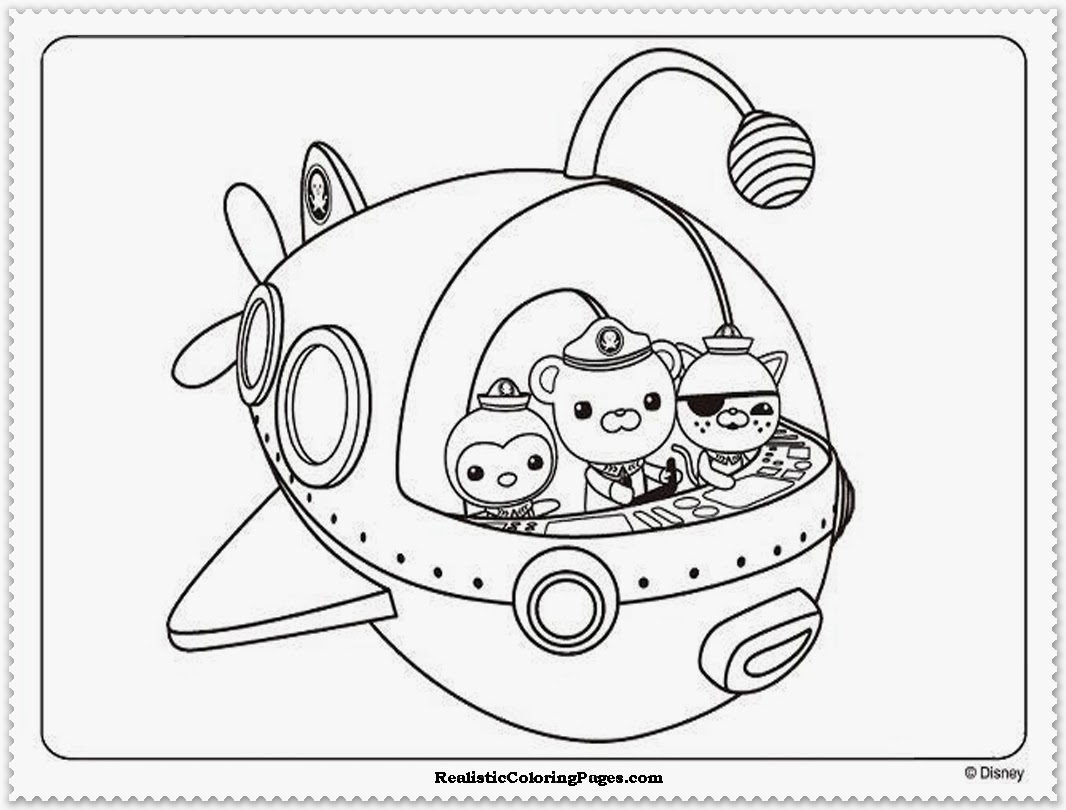 1066x810 octonauts coloring pages the sun flower pages