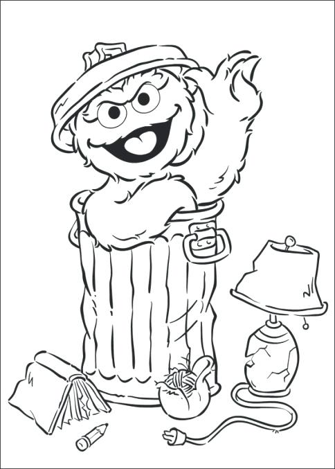 484x677 Oscar The Grouch Coloring Page Books Pages Free