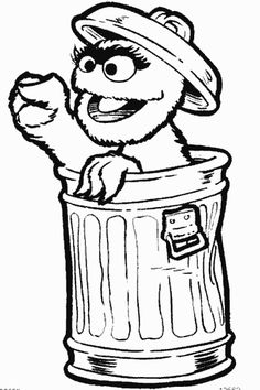 236x354 Drawing Of Oscar Grouch